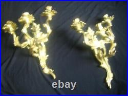 3 Candle Wall Sconces Glo-Mar Artworks Inc, NY from Castle in Williamsport PA