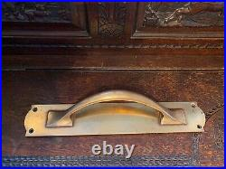Antique Architectural Solid Brass Pair Of Very Large Door Handles