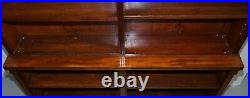 Exquisite Pair Of Large MID Victorian 1860 Antique Mahogany Library Bookcases