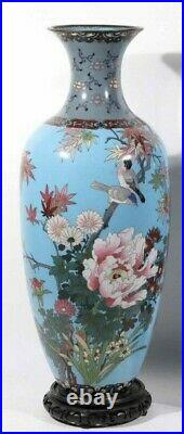 Gorgeous Pair of Antique Japanese Large Vases 24 inches