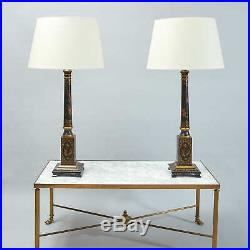 Large Pair of 20th Century Chinoiserie Table Lamps