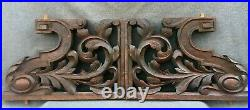 Large antique pair of french black forest shelf console brackets 19th century