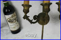 PAIR Large french Bronze Empire design WAll lights sconces arrow griffin bird