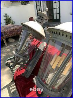 Pair Of Vintage palace French Outdoor Lights, Exterior Sconces Lighting