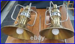 Pair of Mid Century Modern Large Adjustable Wall Sconces