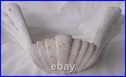 Pair of Vintage Large Plaster Sconces Shell Form, Serge Roche Style