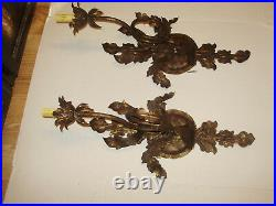 Spanish Huge 27 Inch Tall Designer Electric Wall Scone Pair By Bree Org 480.00