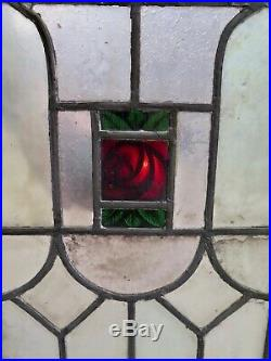 Vintage Pair of Stained Glass Panels