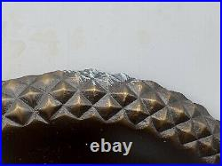 Wired Pair Antique Style Bronze Sconces Wired With Frosted Shades Acorn Pattern